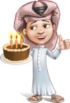 Little Muslim Boy Cartoon Vector Character AKA Nabil - Party 2