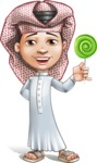 Little Muslim Boy Cartoon Vector Character AKA Nabil - Candy