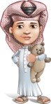 Little Muslim Boy Cartoon Vector Character AKA Nabil - Tedy Bear