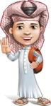Little Muslim Boy Cartoon Vector Character AKA Nabil - School 2