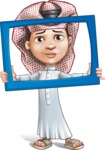 Little Muslim Boy Cartoon Vector Character AKA Nabil - Frame