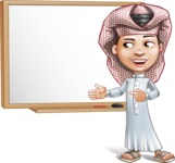 Little Muslim Boy Cartoon Vector Character AKA Nabil - Presentation 1