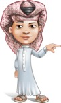Little Muslim Boy Cartoon Vector Character AKA Nabil - Point
