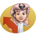 Little Muslim Boy Cartoon Vector Character AKA Nabil - Shape 3