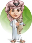Little Muslim Boy Cartoon Vector Character AKA Nabil - Shape 5