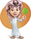 Little Muslim Boy Cartoon Vector Character AKA Nabil - Shape 8