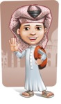 Little Muslim Boy Cartoon Vector Character AKA Nabil - Shape 9