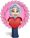 Young Islamic Women Cartoon Vector Character AKA Jumanah - Shape 10