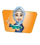 Young Islamic Women Cartoon Vector Character AKA Jumanah - Shape 11