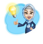 Young Islamic Women Cartoon Vector Character AKA Jumanah - Shape 12