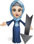 Young Islamic Women Cartoon Vector Character AKA Jumanah - Arrow 3
