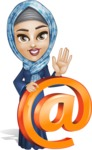 Young Islamic Women Cartoon Vector Character AKA Jumanah - Mail