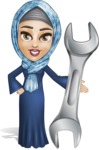 Young Islamic Women Cartoon Vector Character AKA Jumanah - Repair