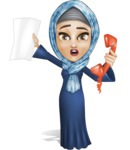 Young Islamic Women Cartoon Vector Character AKA Jumanah - Office Fever