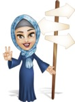 Young Islamic Women Cartoon Vector Character AKA Jumanah - Crossroad