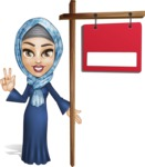 Young Islamic Women Cartoon Vector Character AKA Jumanah - Sale