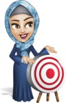 Young Islamic Women Cartoon Vector Character AKA Jumanah - Target