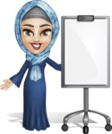 Young Islamic Women Cartoon Vector Character AKA Jumanah - Presentation 1