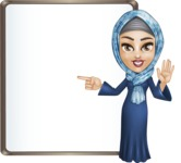 Young Islamic Women Cartoon Vector Character AKA Jumanah - Presentation 3