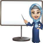 Young Islamic Women Cartoon Vector Character AKA Jumanah - Presentation 4