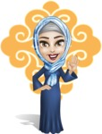 Young Islamic Women Cartoon Vector Character AKA Jumanah - Shape 1