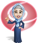 Young Islamic Women Cartoon Vector Character AKA Jumanah - Shape 2