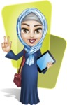 Young Islamic Women Cartoon Vector Character AKA Jumanah - Shape 3