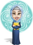 Young Islamic Women Cartoon Vector Character AKA Jumanah - Shape 4