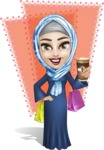 Young Islamic Women Cartoon Vector Character AKA Jumanah - Shape 6