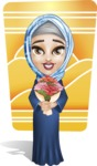 Young Islamic Women Cartoon Vector Character AKA Jumanah - Shape 7