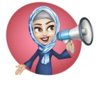 Young Islamic Women Cartoon Vector Character AKA Jumanah - Shape 8