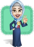 Young Islamic Women Cartoon Vector Character AKA Jumanah - Shape 9