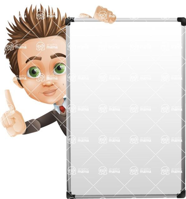school boy vector cartoon character set of poses - Zack the Crafty - Presentation4