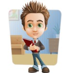 school boy vector cartoon character set of poses - Zack the Crafty - Shape6