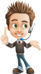 Cute Smart Boy Cartoon Vector Character AKA Zack the Crafty - Support2