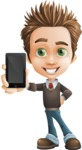 school boy vector cartoon character set of poses - Zack the Crafty - iPhone