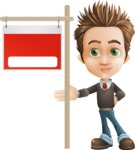 school boy vector cartoon character set of poses - Zack the Crafty - Sign9