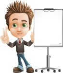 Cute Smart Boy Cartoon Vector Character AKA Zack the Crafty - Presentation1