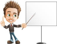 school boy vector cartoon character set of poses - Zack the Crafty - Presentation2