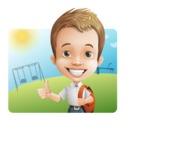 Cute Child Cartoon Vector Character AKA Georgie - Shape 1
