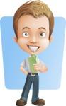Cute Child Cartoon Vector Character AKA Georgie - Shape 6