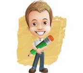 Cute Child Cartoon Vector Character AKA Georgie - Shape 12