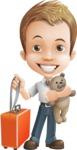 Cute Child Cartoon Vector Character AKA Georgie - Travel