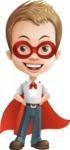 Cute Child Cartoon Vector Character AKA Georgie - Super Boy
