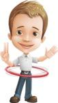 Cute Child Cartoon Vector Character AKA Georgie - Hoop