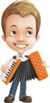 Cute Child Cartoon Vector Character AKA Georgie - Music 2