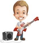 Cute Child Cartoon Vector Character AKA Georgie - Music 4