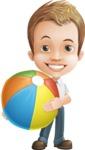 Cute Child Cartoon Vector Character AKA Georgie - Beach 1