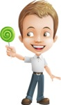 Cute Child Cartoon Vector Character AKA Georgie - Candy