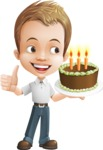 Cute Child Cartoon Vector Character AKA Georgie - Party 2